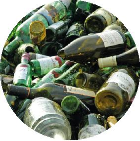flessenglas rolcontainer huren