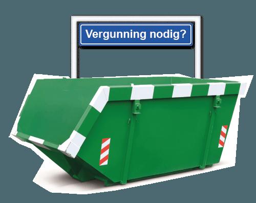 container huren vergunning